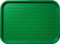 Serving Trays Green Plastic Fast Food Tray, 12 By 16-Inch, S