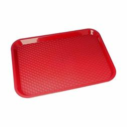 Serving Trays Red Plastic Fast Food Tray, 10 By 14-Inch, Set