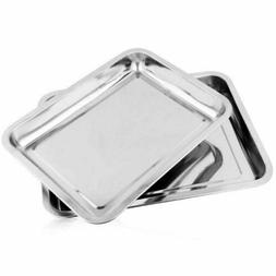 Stainless Steel Food Plate Serving Tray Dish Container Dinne