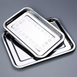 Stainless Steel Serving Tray Food Platter Salver Silver Effe