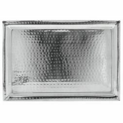 HUBERT Stainless Steel Serving Tray With Hammer Finish Recta
