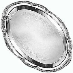"""American Metalcraft STOV128 12"""" x 8"""" Oval Chrome Serving Tra"""