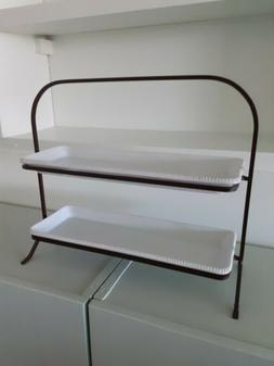POTTERY BARN Tiered Serving Stand with 2 platters