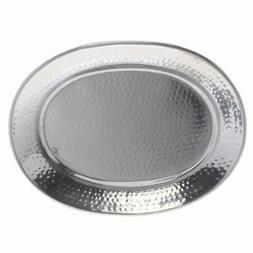 """American Metalcraft Tray 13-3/4"""" x 17-1/4"""" Oval Hammered,"""