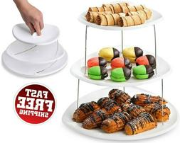 Twist Fold Party Tray, 3 Tier - The Decorative Plastic Appet