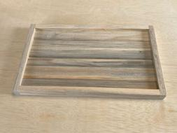 HANDMADE UNFINISHED WOOD SERVING TRAY DIY BLUE PINE