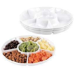Impressive Creations White Round Plastic Serving Tray