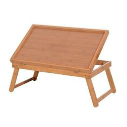 Wood Color Breakfast Bed Tray Lap Desk Serving Table Foldabl