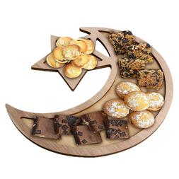 Wood Plate Wooden Tray Dessert Fruit Bread Dishes Trays Dinn